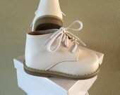 Toddler Shoes White Genuine Leather Boys Girls US Size 2 3 4 5 6 First Step Walking Baby Christening