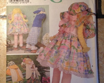 Simplicity 8268 Doll or Bunny and Clothes Craft Pattern UNCUT
