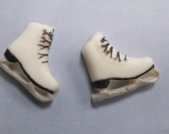 Ice Skate Cake, Fondant Cupcake Toppers, Ice Skates, Ice Skating Cake Topper, Ice Skating, Ice Skating Cupcake Toppers