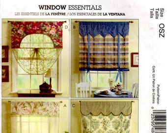 McCalls 4801 Sewing Pattern - Window Essentials - Home Decorating - Window Treatments
