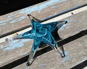 Turquoise Glass Sea Star,...