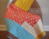 Modern Hand-Quilted Baby Stroller Carseat Quilt Sheep