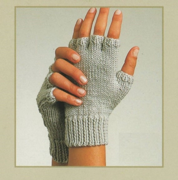 Fingerless Gloves Knitting Pattern Two Needles : PDF Knitting Pattern / Gloves, Fingerless Gloves and ...