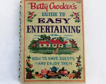 1959 Betty Crocker's Guide to Easy Entertaining Vintage Cookbook