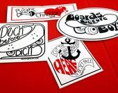 Skate Sticker Set - girl power vinyl stickers