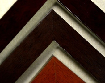 14 x 18 -  20 x 24 Classic Wood Picture Frames in Mahogany, Espresso, and Walnut Custom , Readymade, Wall Decor, Art, Photography