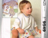 Newborn Sewing Pattern Infant Baby Diaper Cover Panties Bootees Blanket Food Pocket Catcher Bib McCalls 9549 Boys Girls NB S M