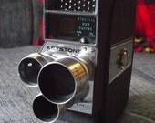 Mid Century Keystone Americana Electric Eye Cine Turret 8mm Camera with Instructions