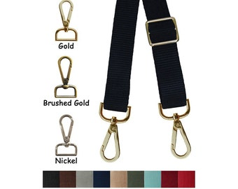 "Nylon Webbing Strap - Adjustable - 1"" (inch) Wide - Your Choice of Color, Length & Hook #14"