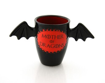 Game of Thrones Mother of Dragons cup, goblet, pencil holder or brush holder, Khaleesi, Targaryen, art and collectibles, ceramic