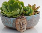 ceramic planter pot garden plant bowl window garden buddha planter