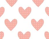 Fabric Wall Decal - Hearts (Pink) (reusable) NO PVC