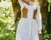Cream sheer chemise rococo Marie Antoinette pirate romantic dress costume