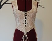 Peaches and cream lacing bodice modern victorian steampunk fashion goth halloween