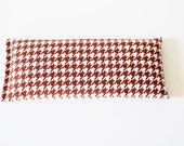 Lavender Eye Pillow, Brown and White Houndstooth, Eye Compress, Hot Cold Pack