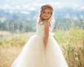 NEW! The Juliet Dress in Ivory/Light Gold - Flower Girl Tutu Dress
