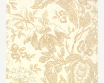 SALE Jacobean Tonal floral natural Papillon by 3 Sisters from Moda