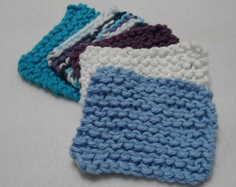 Knitted Cotton Square Face Scrubbies