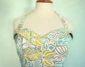 Swell Dame 1950s vintage style hawaiian bustier top, made to order