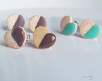 Sugar cookie Set of 3 earrings-Sugar cookie collection-Scented-Miniature food jewelry