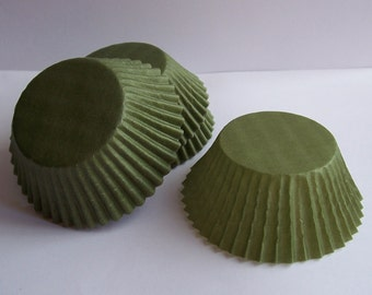Olive Colored Cupcake Liners- Choose Set of 50 or 100