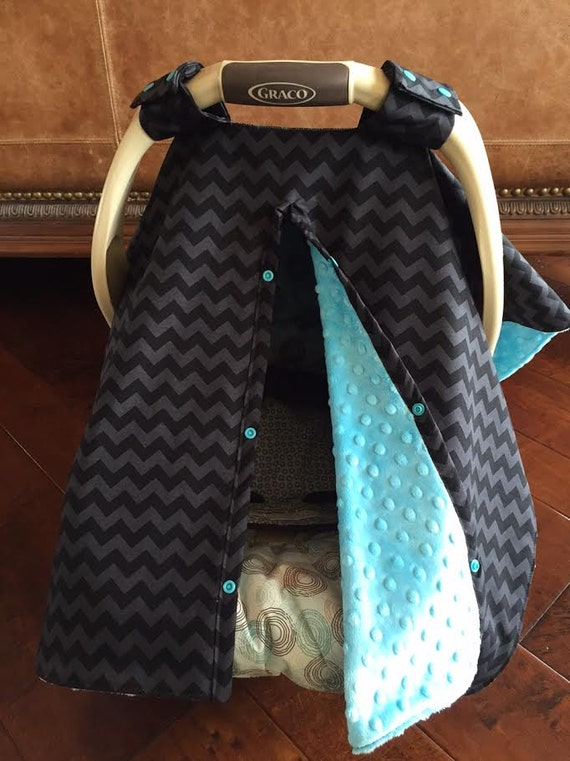 items similar to super cute baby car seat covers small chevron in black gray tone with. Black Bedroom Furniture Sets. Home Design Ideas