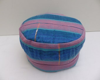 African Hat (Fila) in Blue and Pink
