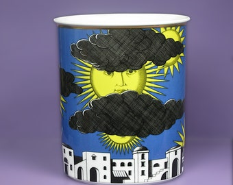 """VINTAGE Large Fornasetti Il, """"Sole di Capri""""  Vase by Rosenthal.  Kitsch, Mid Century, Modern."""