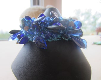 Cobalt Blue Knitted Cuff...FREE SHIPPING!!!!!