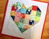 Wedding -Quilted Heart Pillow Cover