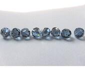 6mm Denim Blue Swarovski Round Beads - (23)