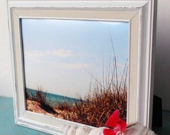 Original Fine Art Beach Photograph Metallic Print, Nautical Art , Beach Room Decoration , 8 x 10 Photo