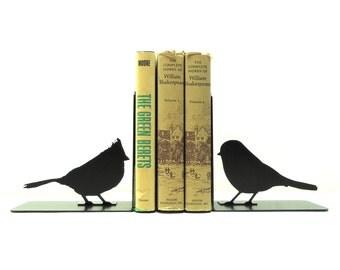 Song Bird Metal Art Bookends - Free USA Shipping