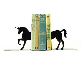 Unicorn Metal Art Bookends - Free USA Shipping