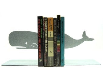 Whale Metal Art Bookends - Free USA Shipping