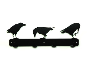 Raven Metal Art Coat Rack - Free USA Shipping