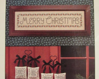 Cinnamon Heart Needleworks/Counted Cross Stitch Patterns/Cranberry Christmas/1992/Holiday Sampler