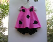 Baby and Toddler Pink Pebbles Flintstone Toddler Costume 2 Piece Set