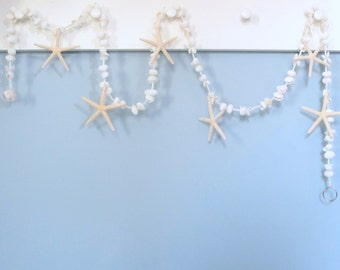 Beach Wedding Decor Shell Garland, Nautical Decor Starfish Garland, Seashell Garland, Coastal Home Decor, Beach House Decor,  6FT  #WSSFG