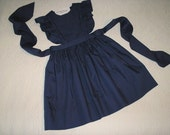 School Uniform in Navy Blue Broadcloth.  Size 6.  Ready to Ship.
