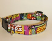 Dogs Love Star Wars Too Fabric Collar