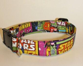 Dogs Love Star Wars Too Fabric Collar
