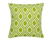 GREEN Pillow Cover.Decorator Pillow Cover.Home Decor.Large Print. NICOLE.Cushions. Cushion.Pillow. Premier Prints
