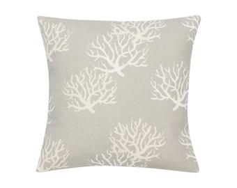 GREY Pillow Cover.Decorator Pillow Cover.Home Decor.Large Print.COASTAL.Slipcover. Cushion.Pillow. Premier Prints
