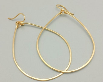 Extra Large Gold Filled Hoops