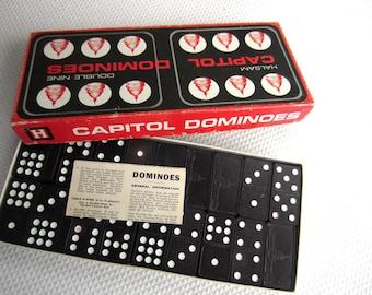 Vintage Capital Dominoes Double Nine Box Halsam