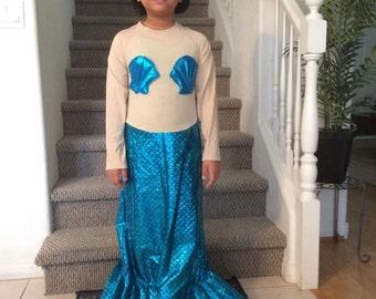 Turquoise Mermaid Costume size -6-8