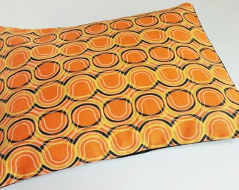 Heating Pad Orange and Black Wavy for Hot and Cold Therapy Corn Bag 9x6 ~ Keep Hands and Feet Warm, Soothing Heat, Relaxation, Sore Muscles
