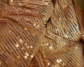 Stunning Gold Sequin Fabric-Sparkling Gold Sequins-Gold Sequin Fabric Yardage-60x60+ Piece- Gold Wedding Fabric-Gold Costume Fabric
