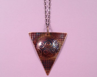 Torched Copper Necklace